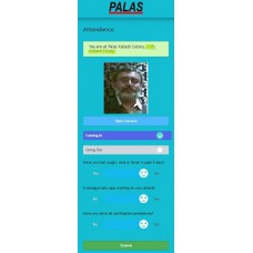 Palas Contactless Employee Attendance (PCEA) software