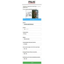 Palas Contactless Visitor Registration (PCVR) software
